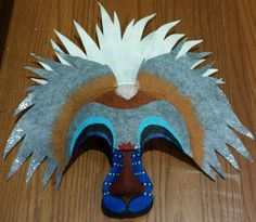 Lion King Mask - Rafiki by DreamColored