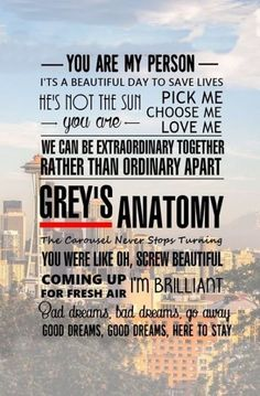 Find images and videos about grey's anatomy, meredith grey and derek shepherd on We Heart It - the app to get lost in what you love. Frases Greys Anatomy, Greys Anatomy Funny, Grey Anatomy Quotes, Grey Quotes, Tv Quotes, Netflix Quotes, Grey's Anatomy Wallpaper Iphone, Grey's Anatomy Wallpaper Quotes, You Are My Person
