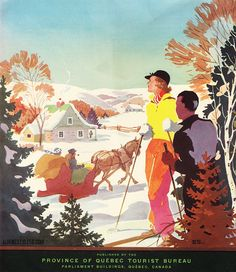 quebec canada ski vintage brochure travel via AlpineStyle56.com