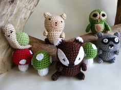Mix and Match HANGING Car Seat/Stroller Toys, Woodland Creature Collection