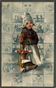 Dutch Girl..️Antique Postcard.