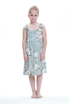 Girl Melani Tunic Dress in Waterlily Sky Blue