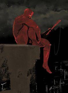 Daredevil(Matt Murdock) Daredevil by Fred Vervisch Daredevil Matt Murdock, Daredevil Punisher, Comic Sans, Daredevil Man Without Fear, Marvel Universe, Marvel Comics Art, Hells Kitchen, Design Poster, Graphics