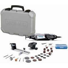 Dremel 4000 Series Amp Corded Variable Speed Rotary Tool Kit with 32 Accessories and Carrying Case Dremel 4000, Best Dremel Tool, Dremel Rotary Tool, Dremel Kit, Dremel Attachments, Dremel Tool Accessories, Pebble Bath Mat, Corded Drill, Dremel Projects