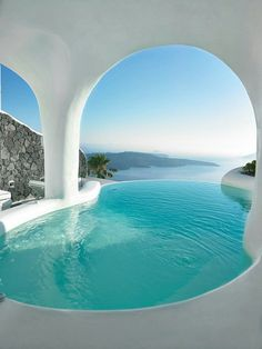 My dream destination!  Dana Villas in Santorini, Greece.