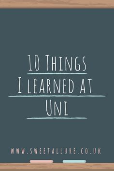 10 Life Lessons I learned At University.  I've been graduated from university for just over 5 years now and I wanted to share some life lessons I've learning from uni.