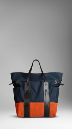 Burberry men large colour block tote | Men's bags