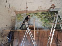 Claire Basler, artist's studio, France.