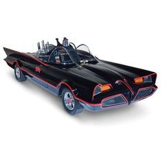 Ever want to drive the Lincoln turned Batmobile driven by Adam West in the Batman television show? Well, those purveyors of things you never knew you wanted, Hammacher Schlemmer, are selling th… Batman Auto, Batman Batmobile, Batman 1966, Lego Batman, Bugatti, Maserati, Rolls Royce, Batman Gifts, Batman Tv Series