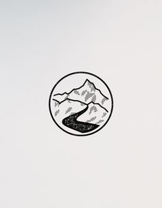 VISLA Graphic - illustration and logo design  -- mountain river