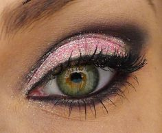 A girls night out is a must with this look! Pink shadow on the lid and a sexy black cut crease will make your eyes stand out.