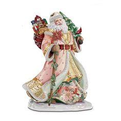 Lena Liu's Heirloom Porcelain Santa Claus: Seasonal Splendor Figurine by The Bradford Exchange