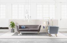 Canapé droit Nest / L 204 cm - Design House Stockholm