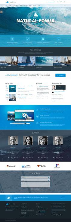 Marine - Retina Responsive Multi-Purpose Theme by webdesigngeek on DeviantArt