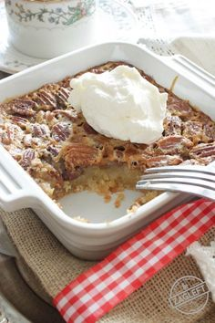 This Pecan Pie For One has all the flavors you love in a pecan pie. It's made with a buttery shortbread crust and a rich, pecan filled filling. This single serving dessert is perfectly sweet, it's filled with pecans and best of all, it's easy to make. | onedishkitchen.com