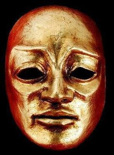 "Volto Maestro Masquerade Mask - Gold. From the movie ""Eyes Wide shut"""