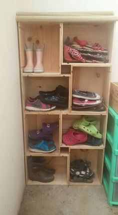 Placard chaussures on pinterest ranger entrees and dressing - Idees rangement chaussures ...