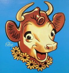 Elsie the Cow is a cartoon cow that has been used as the logo for the Borden Dairy Company since 1936. She was created in the 1930s to symbolize the perfect dairy product. In 1940, David Reid also designed a husband for Elsie, a brawny bull named Elmer, who had his own career as an icon for Elmer's Glue.