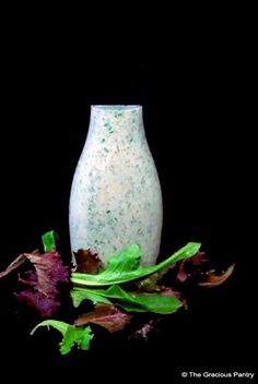 Clean Eating Ranch Dressing  www.TheGraciousPantry.com