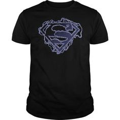 Superman Electric Supes Shield T Shirts, Hoodies, Sweatshirts. CHECK PRICE ==► https://www.sunfrog.com/Geek-Tech/Superman-Electric-Supes-Shield-.html?41382