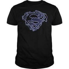 Superman Electric Supes Shield T Shirts, Hoodies, Sweatshirts. CHECK PRICE ==► https://www.sunfrog.com/Geek-Tech/Superman-Electric-Supes-Shield-.html?41382