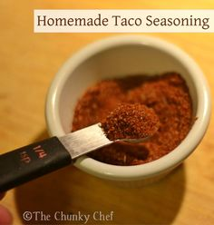 ... taco seasoning homemade taco seasoning homemade tacos food spices