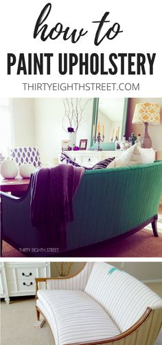 Learn How To Paint Upholstery Fabric With Chalk Paint®. | Thirty Eighth Street