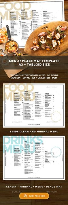 Cocktail Drinks Menu Menu, Drink menu and Food menu - free cafe menu templates for word