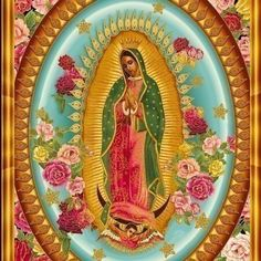 Robert Kaufman - Inner Faith - Virgin Mary of Guadalupe - Bright - B Creative - . Robert Kaufman - Inner Faith - Virgin Mary of Guadalupe - Bright - B Creative - PANEL Fabric - Fabric Crafts Religious Icons, Religious Art, Kitsch, Mary Of Guadalupe, Mama Mary, Holy Mary, Mexican Folk Art, Blessed Mother, Mother Mary