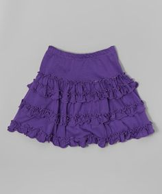 This Purple Ruffle Skirt - Toddler & Girls is perfect! #zulilyfinds