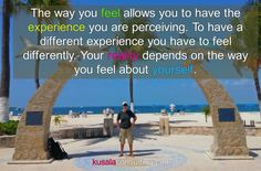 The way you feel allows you to have the experience you are perceiving. To have a different experience you have to feel differently. Your reality depends on the way you feel about yourself.  #empowerment #awareness #selfrealization #selfrealisation #mindset #LOA #consulting #consultinglife #speaker #lifecoach #empowermentcoach #love #loveyourself #createyourreality