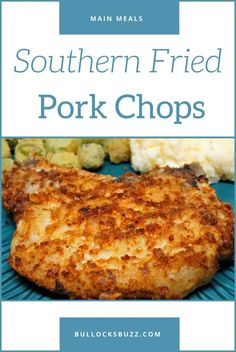 A true Southern classic, these delicious fried pork chops have a crispy, golden brown seasoned crust on the outside, and a tender and juicy inside.