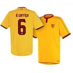Sevilla FC Third 16-17 Season Yellow #6 Carrico Soccer Jersey [I245]