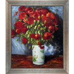 <li>Artist: Vincent Van Gogh </li>  <li>Title: Vase with Red Poppies (reproduction)</li> <li>Product type: Hand-painted oil on canvas framed art</li>