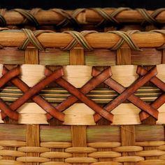 Extra large Cat's head basket by WeavingArt on Etsy, $700.00 - leather trim
