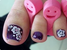 Emboss Flowers by Beautypia_riki - Nail Art Gallery nailartgallery.nailsmag.com by Nails Magazine www.nailsmag.com #nailart