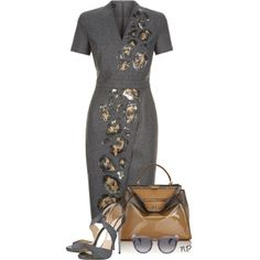 Workwear by nuria-pellisa-salvado on Polyvore featuring polyvore, fashion, style, ESCADA, Jimmy Choo, Fendi, Illesteva and clothing