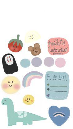 แต่งรูป Cute Notes, Good Notes, Journal Stickers, Planner Stickers, Kawaii Drawings, Cute Drawings, Memo Notepad, Notes Design, Dibujos Cute