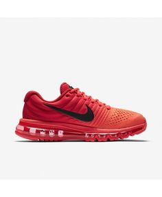online store d2f98 df246 Air Max 2017 Bright Crimson University Red Black Mens