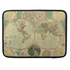 Antique World Map by Carington Bowles, circa 1780 MacBook Pro Sleeve