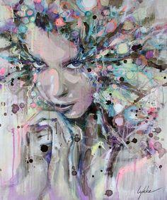 "Saatchi Art Artist: Lykke Steenbach Josephsen; Mixed Media 2011 Painting ""No title"""