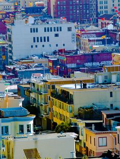 View of North Beach and Chinatown from Telegraph Hill, San Francisco, April 2007 by Conlawprof, via Flickr