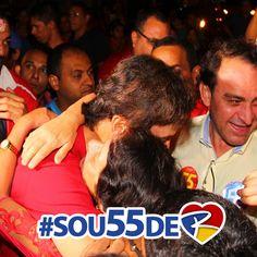 A esperança se renova a cada sorriso, a cada abraço recebido e palavra de carinho... Vocês são o motivo da minha luta! #sou55 de <3