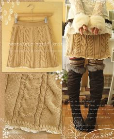 Turn an old sweater into a skirt.