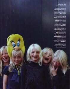Hair and makeup: Ingrid Boekel @ House of Orange. Job: Vogue Bambini.