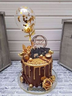 cake decorating 358810295313871891 - Balloon Cake Topper Confetti Party Birthday Wedding Hen Baby Shower Engaged Baker Cake Decor Ribb Source by cikylie Birthday Cake For Women Elegant, Elegant Birthday Cakes, Beautiful Birthday Cakes, 40th Birthday Cake For Women, Husband Birthday Cake, Creative Birthday Cakes, 60th Birthday Cakes, Gold Birthday Cake, Birthday Cake Designs