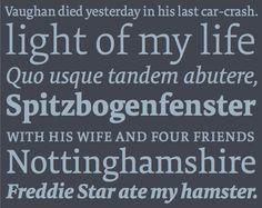 FF Tundra von Ludwig Übele prägt die Kombination aus starken Serifen und weichen Formen. Das ruhige Erscheinungsbild im Fließtext und die hervorragende Lesbarkeit überzeugten den Stern und sie wurde im Sommer 2012 der neue Editorial Font.