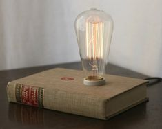 hardback book lamp.  This cannot be THAT hard to do.  Don't want to pay 130 dollars!