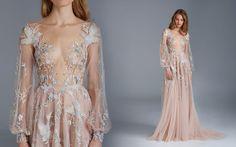 2016 paolo sebastian wedding dress, fairytale nude wedding dress, blush wedding dress