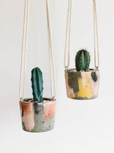 Fox & Ramona - Pots de fleurs suspendus en ciment